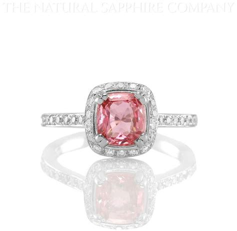 padparadscha sapphire engagement ring natural padparadscha sapphire and diamond ring the
