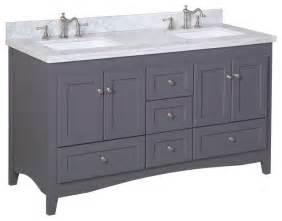 60 in sink bath vanity carrara charcoal gray