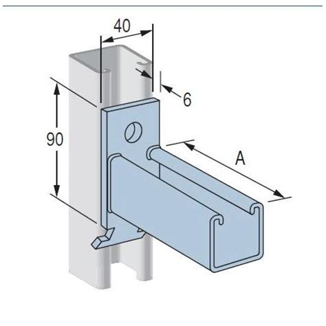 Enigma Electric Dropbolt Glass Fitting Bracket Only cantilever bracket p2514 dipped galvanised 400mm