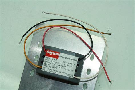 ac fan speed control dayton fan motor speed control 4x797e 10 amps 115v ac ebay