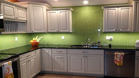 lime green tiles kitchen lime green glass subway tile backsplash kitchen ideas