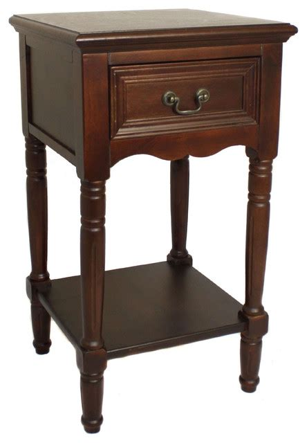 Black Brown Bedside Table Designs Solid Wood Stand Table Brown