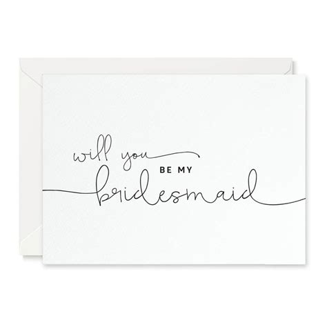 Be My Bridesmaid Card Template by Kate Will You Be My Bridesmaid Card By Project Pretty