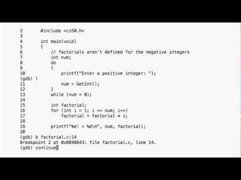 gdb tutorial c introduction to gdb a tutorial harvard cs50 funnycat tv