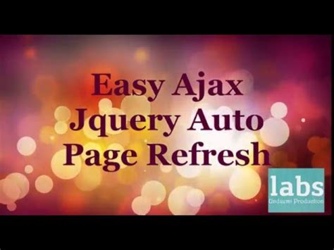 refresh div easy way to refresh div within a page using ajax and