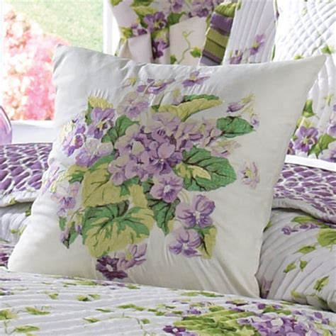 Waverly Sweet Violets Quilt Set by Sweet Violets Floral Quilt Set Bedding By Waverly Shared