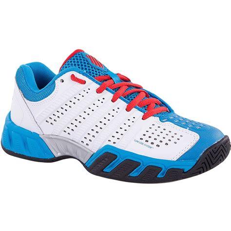 light blue tennis shoes k swiss big shot light 2 5 juniors white blue