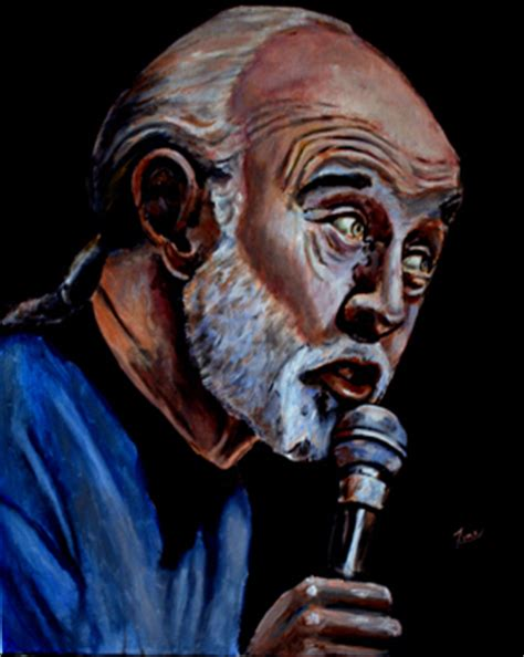 george carlin images painting  george carlin wallpaper