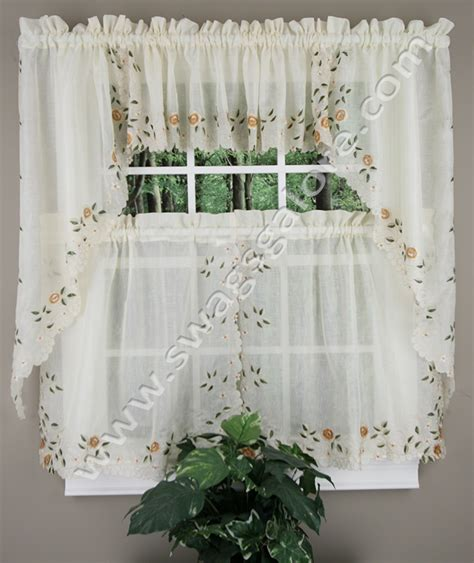 Lined Kitchen Curtains Rosemary Kitchen Curtains Linen Lorraine Home Fashions Jabot Swag Kitchen Curtains