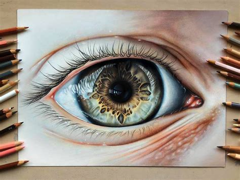 shiny mew color pencil by drawing a realistic eye using coloured pencils