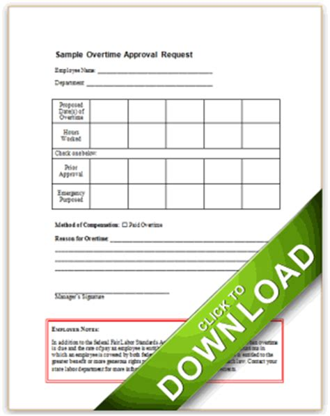 policy approval form template overtime approval request