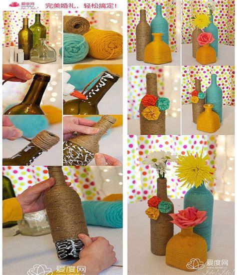 vidros decorados em croche graficos reciclagem garrafas vidro decoradas linha barbante