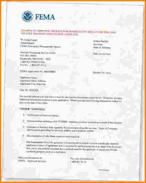 Fema Appeal Letter Exle 5 Fema Appeal Letter Exle Nypd Resume