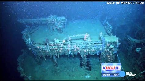 sunken u boat video shows sunken nazi ship in gulf of mexico youtube