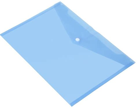 How To Make A Paper Folder For School - packs of a4 plastic popper stud document wallets folders