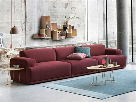 Scandi Living Room buy the muuto connect modular sofa in rime fabric at nest