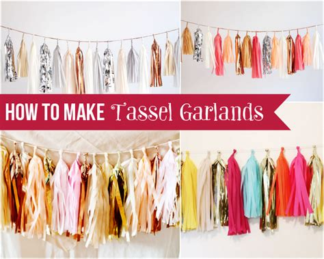 How To Make A Tissue Paper Tassel Garland - diy how to make your own tassel garland pizzazzerie