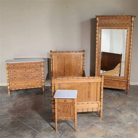 19th Century French Faux Bamboo Bedroom Suite At 1stdibs | 19th century french faux bamboo bedroom suite at 1stdibs