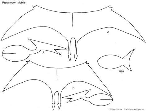 Dinosaur Papercraft Templates - preschool crafts for pteranodon dinosaur mobile