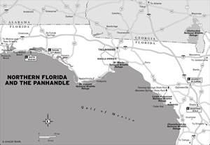 map of northern florida gulf coast printable travel maps of florida and the gulf coast moon