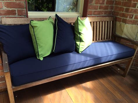 how to cushion a bench how to select outdoor bench cushions the decoras jchansdesigns