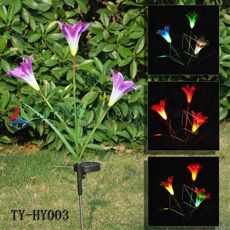 solar flower lights solar flower light ty hy003 china solar flower light