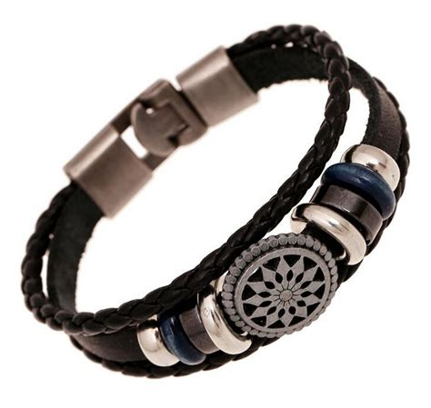 Handmade Mens Braided Leather Bracelets - aliexpress buy handmade braided charm genuine