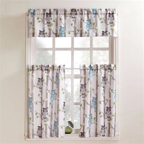 hoot owl curtains no 918 hoot owl print kitchen tier curtains