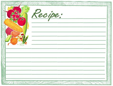 premium recipe card template free recipe card templates for microsoft word