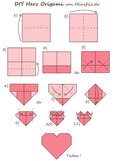 herz origami - Origami Herz