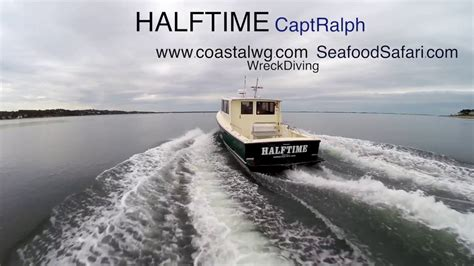 boat wrecks youtube the halftime a north east wreck diving boat youtube