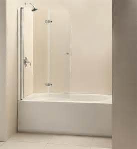 bathtub shower doors frameless dreamline showers ez fold hinged tub door