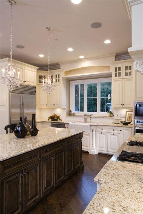 cream kitchen dark island quicua com 1000 ideas about cream colored kitchens on pinterest