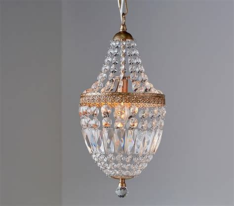 Small Glass Chandelier Mini Chandelier Pottery Barn