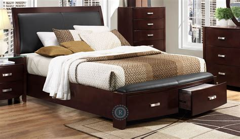 Lyric Espresso Cal. King Sleigh Storage Bed from