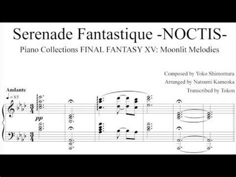 Xv Sheet Piano Collection Book Buku Piano xv piano collections sheet noctis serenade fantastique finalfantasy