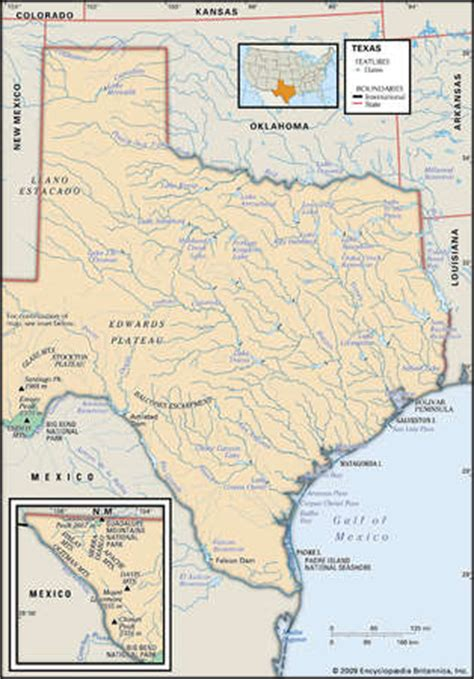 mountains in texas map stock illustration physical map of the state of texas showing dams mountain ranges and other