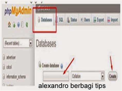 cara membuat database menggunakan xp cara membuat database menggunakan xp