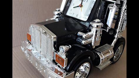 talking semi truck alarm clock cool animated lights