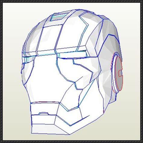 Papercraft Ironman Helmet - iron armor v helmet free papercraft