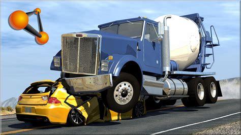 cars trucks beamng drive trucks vs cars 5