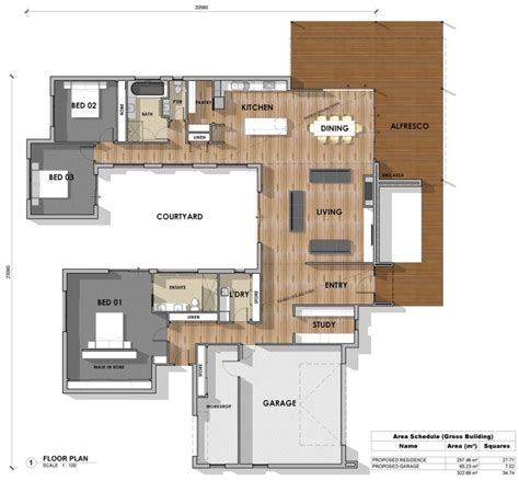 u shaped floor plans floor plan friday 3 bedroom study u shape