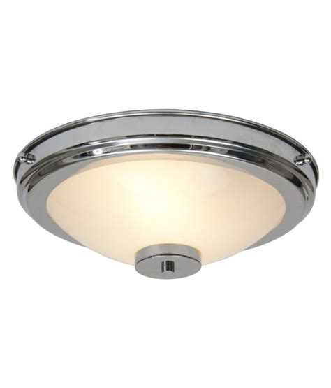 deco chrome flush ceiling light