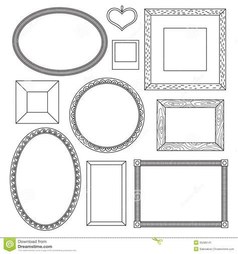free doodle vector frames set of doodle frames stock vector image of banner paper