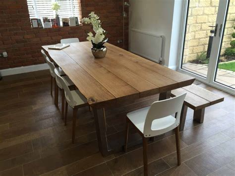 oak dining table rustic oak dining table abacus tables