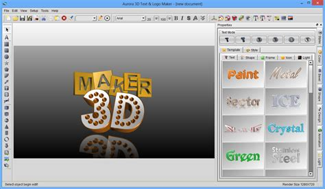 graphic generator free 3d text logo maker