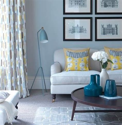 Grey And Yellow And Blue Living Room Blue Grey And Yellow Living Room Idea For The Home