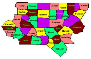 carolina regional map piedmont carolina county trip reports