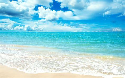 Blue Ocean, beach, beautiful, blue, clouds, coast, nature, ocean, pretty, sand, sea, sky, water