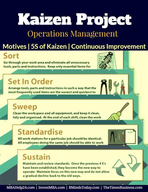 kaizen project benefits five s of kaizen continuous